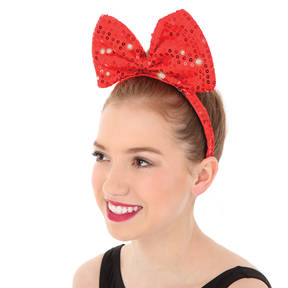 Red Bow Headband Red One Size