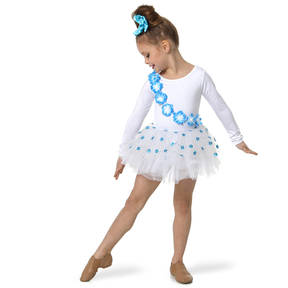 Something Blue White Skirted Leotard and Hairpiece