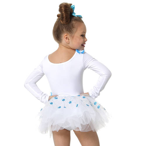 Something Blue White Skirted Leotard and Hairpiece : S031