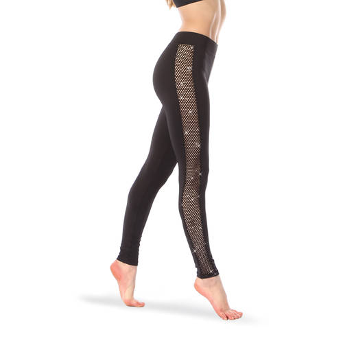 Kids Glitter Mesh Leggings : 3272BW