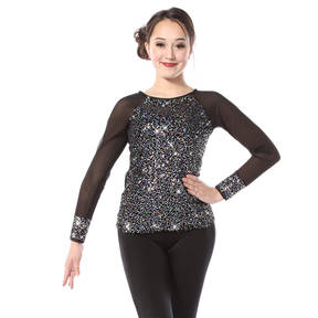 Youth Iridescent Sequin Long Sleeve Top