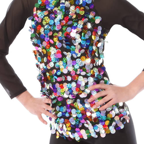 Kids Rainbow Sequin Long Sleeve Top : 3440