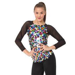 Kids Rainbow Sequin Long Sleeve Top