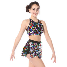 Kids Rainbow Sequin Crop