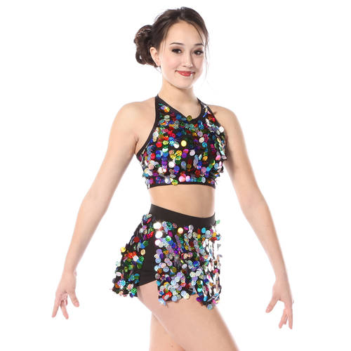 Kids Rainbow Sequin Crop : 3441