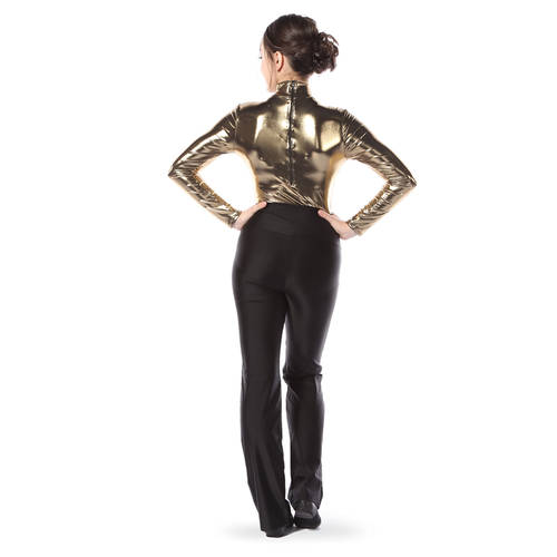 Youth Metallic Long Sleeve Leotard : 4304