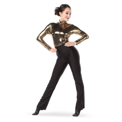 Metallic Long Sleeve Leotard : 8304
