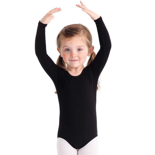Youth Body Wrappers Long Sleeve Leotard : BWP026