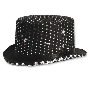 Body Wrappers Sequin Top Hat