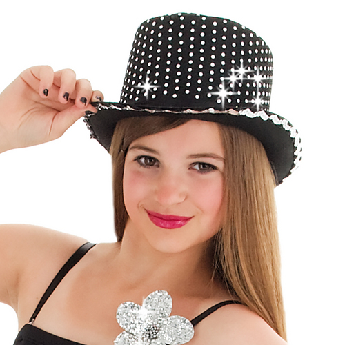 Body Wrappers Sequin Top Hat : H007