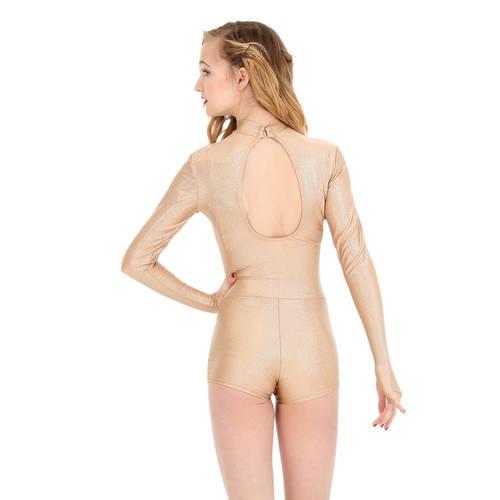 Girls Body Wrappers Metallic Biketard : K110