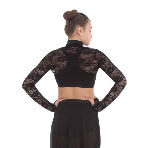 Body Wrapper Lace Crop Jacket : K419