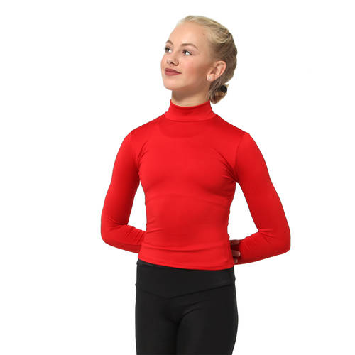 Youth Long Sleeve High Neck Pullover : MT124