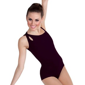 Asymmetrical Body Wrappers Camisole Leotard