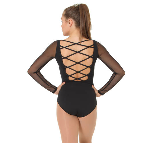 Strappy Back Long Sleeve Leotard : 11275W