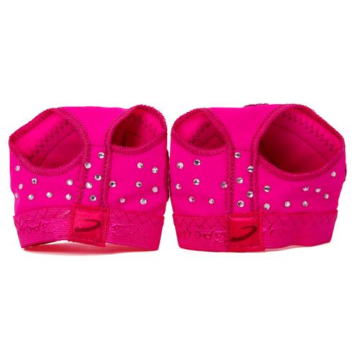 Capezio Pink Rhinestone Footundeez : H07RS
