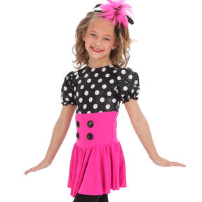 Alexandra Polka Dot Puff Skirted Leotard