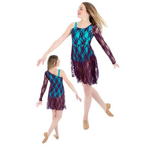 Follow Your Heart Skirted Dance Costume Leotard
