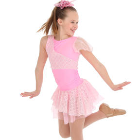 Youth Criss-Cross Princess Skirted Leotard