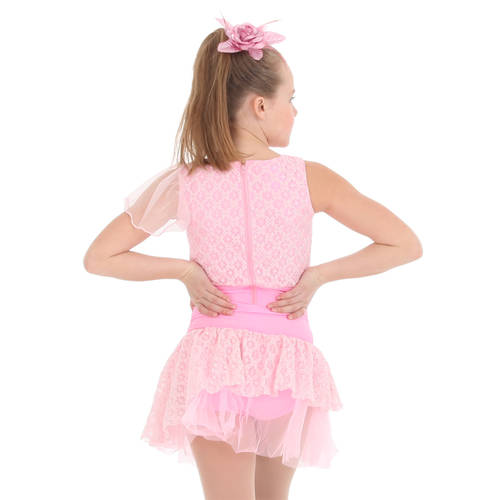 Youth Criss-Cross Princess Skirted Leotard : S014C
