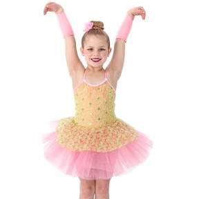 Dizzy Daisy Sequin Skirted Leotard