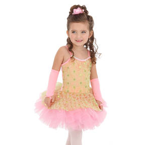 Youth Dizzy Daisy Sequin Skirted Leotard
