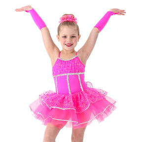 Pink Parade Glittered Sequin Skirted Leotard