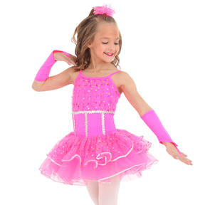 Youth Pink Parade Glittered Sequin Skirted Leotard