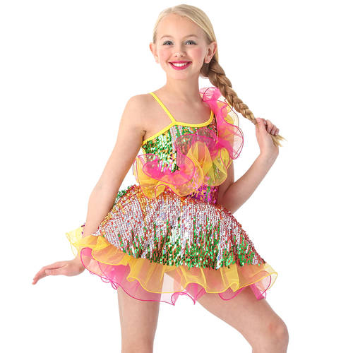 It's A Party Sequin Skirted Leotard : S035