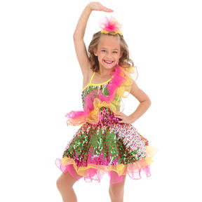 Youth It's A Party Sequin Skirted Leotard