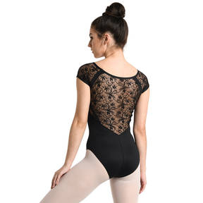 Cap Sleeve Lace Leotard