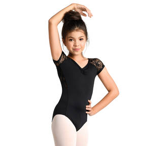 Youth Cap Sleeve Lace Leotard