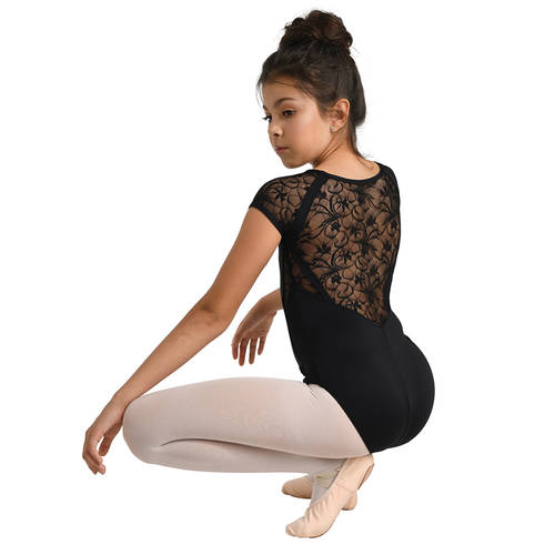 Youth Cap Sleeve Lace Leotard : 2737C