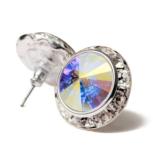 Swarovski Performance Post Earring - Aurora Borealis : 2710P-AB