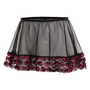 Girls Rosette Pull On Skirt