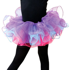 Three Color Tutu With Bow