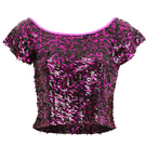 Youth Gia-Mia Sequin Crop Top : G211C