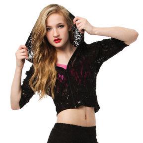 Gia-Mia Glitzy Lace Hoodie