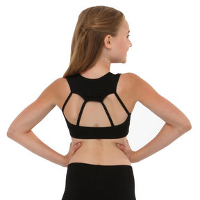 Youth Solid Web Bra Top