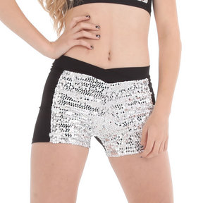 Girls Sequin Block Short