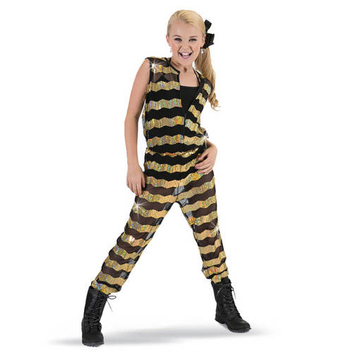 Girls Sequin Stripe Jumper : G321C