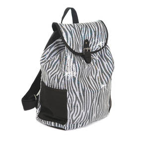 Zebra Sequin Backpack