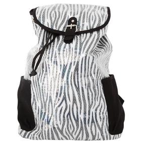 Zebra Sequin Backpack