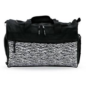 Zebra Dance Gear Duffle Black Zebra One Size