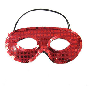 Sequin Half Mask
