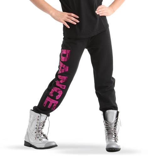Girls Sequin Dance Sweatpants : GAR-245C