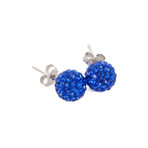 Rhinestone Stud Earrings : JFK-407