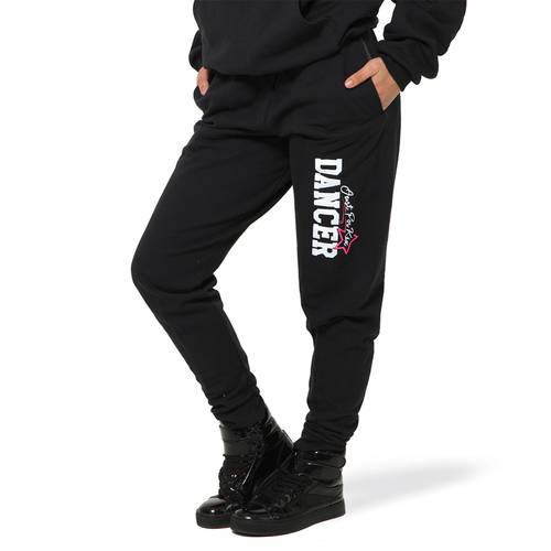Youth Black Elastic Sweats : JFK-612C