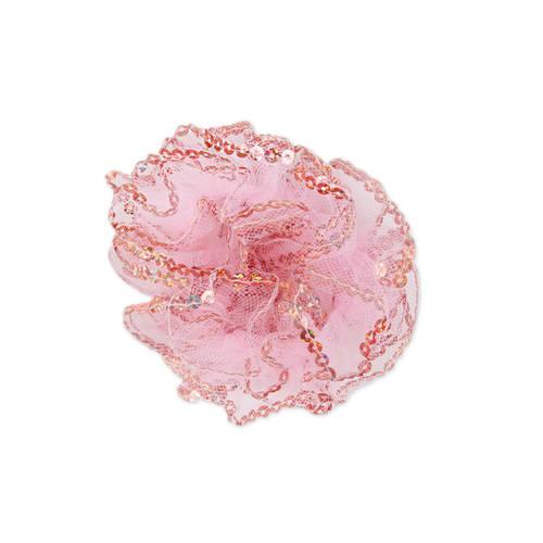Mesh Sequin Hair Scrunchie : JFK32