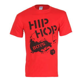 Boy's Hip Hop T-shirt Red